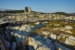 Tower in The ancient Thracian city of Perperikon, Bulgaria Stock Photos