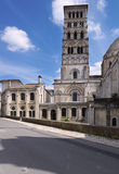 Tower of Angouleme Cathedral Royalty Free Stock Photo