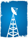 Tower of antenna. On abstract background stock illustration