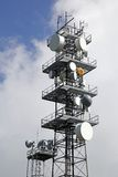 Tower antennas Stock Image