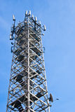 Tower antennas of cellular communication Stock Photo