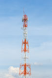 Tower with antennas of cellular Royalty Free Stock Photos