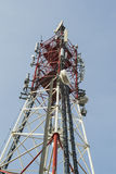 Tower with antennas Royalty Free Stock Photos