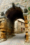Tower arch Volterra Royalty Free Stock Photography