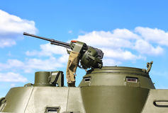 Tower of the armored personnel carrier Royalty Free Stock Images
