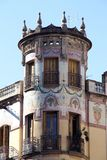 Tower of an Art Nouveau building Stock Photo