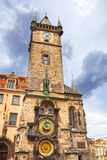 Tower with Astronomical Clock in Prague Royalty Free Stock Photography
