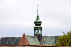 Tower of The Augustinian Abbey of St Thomas, Brno Stock Photo