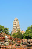 Tower in Ayutthaya Stock Photography
