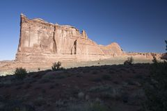 Tower of Babel. And The Organ - Rock formation in Arches National Park in Utah, USA Royalty Free Stock Images