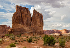 Tower of Babel  Arches National Park. Red sandstone monolith in Arches National Park, Utah Stock Image
