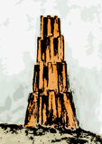 Tower of Babel (vector). Drawing of an imaginary tower Stock Photos