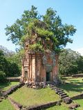 Tower at the Bakong Temple east of Siem Reap, Royalty Free Stock Photo