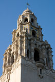 Tower at Balboa Park. The top of the tower at the entrance to Balboa Park in San Diego, California stock photo