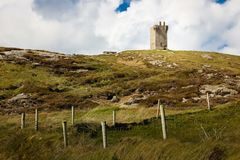 Tower at Banba`s Crown. Malin Head. Inishowen. county Donegal. Ireland. Costal landscape. Tower at Banba `s Crown. Malin Head.  Inishowen Peninsula. county Stock Photo
