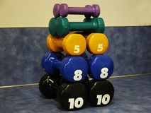 Tower of Barbells Royalty Free Stock Photography