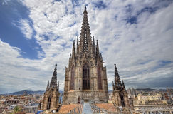 Tower of Barcelona Cathedral, Spain Royalty Free Stock Photography
