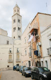Tower of Bari Cathedral of San Sabino in Bari, Italy Royalty Free Stock Image