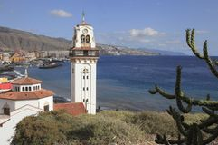 Tower of Basilica from Candelaria Stock Photos