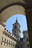 Tower of the basilica del Escorial Royalty Free Stock Images