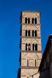 Tower of the Basilica di Santa Francesca Romana Stock Image