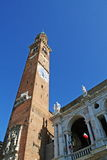 Tower of Basilica Palladiana design by Palladio Royalty Free Stock Image