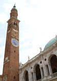 Tower of the Basilica Palladiana di Vicenza designed by Andrea P Stock Images