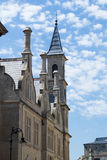 Tower in Bath, United Kingdom. The high clock tower against the sky in Bath, United Kingdom Royalty Free Stock Images