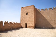 Tower and battlements at Almeria castle Royalty Free Stock Photography