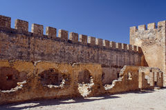 Tower and battlements of the walls Royalty Free Stock Images