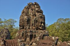 Tower of Bayon Temple Royalty Free Stock Images