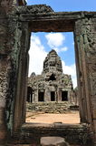 Tower of Bayon Temple in Cambodia Stock Photo