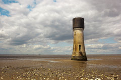Tower on a beach Royalty Free Stock Image