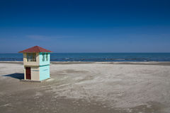 Tower beach lifeguard on the Black Sea Stock Images