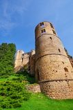 Tower of Beaufort castle in Luxembourg stock photography