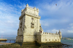 Tower of Belem. Famous landmark in Lisbon, Portugal. Stock Images