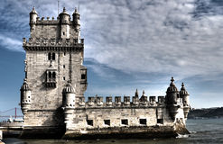 Tower of Belem - Lisbon  HDR. Tower of Belem HDR - Lisbon Portugal Royalty Free Stock Photography