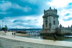 Tower of Belem Lisbon, Portugal royalty free stock photo