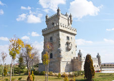 Tower of Belem in scale in Europa Park,  Madrid Royalty Free Stock Photos