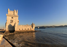 Tower of Belem at sunset Stock Photography