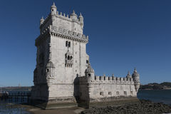 Tower of Belem on sunset, Lisbon, Portugal Stock Image