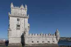 Tower of Belem on sunset, Lisbon, Portugal Stock Images