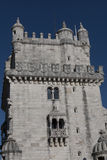 Tower of Belem on sunset, Lisbon, Portugal Royalty Free Stock Image