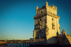Tower of Belem at sunset, Lisbon Royalty Free Stock Photography