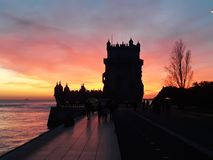 Tower of Belem stock images