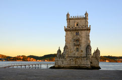 Tower of Belem (Torre de Belem), Lisbon. Belém Tower (in Portuguese Torre de Belém, ) or the Tower of St Vincent is a fortified tower located in the civil Royalty Free Stock Image