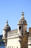 Tower of Belem. Turrets on the Tower of Belem royalty free stock image