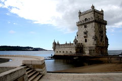 Tower of Belen. Belém Tower, located in the city of Lisbon, capital of Portugal, is the work of Francisco de Arruda and is one of the most representative stock photos