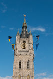 Tower of the Belfry of Ghent, Belgium Royalty Free Stock Photos