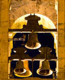 Tower bell. A Tower bell with 5 bells Stock Images